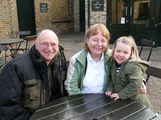 Maddie with grandparents